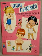 New Listing1969 Mini Moppets Paper Doll Book - Saalfield #4440 - Rare Uncut Original