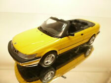MINICHAMPS SAAB 900 - 1995 CONVERTIBLE - YELLOW 1:43 - VERY GOOD CONDITION