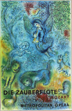 Marc CHAGALL The Magic Flute Mozart Lithograph Poster 39-1/2 x 25-3/4