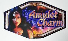 """THE AMULET AND THE CHARM SLOT MACHINE GLASS IGT TOPPER 9.5"""" X 15.75"""" 94885500"""