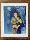 """Vintage 1960's Norman Rockwell Our Heritage Boy Scout Print MINT 14""""x 11"""""""