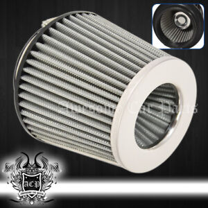 "For Dodge 3.0"" Air Filter Performance Race Upgrade Intake Cai Sri Unit Polished"