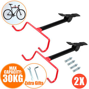 "Wall Bicycle Bike Holder Adjustable Angle 0-180° Mount Tyre Weight 2-1//2/"" 29ers"