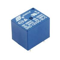 10Pcs Mini Module SRD-5VDC-SL-C DC5V SPDT 5 Pins Plastic Coil Power Relay Blue
