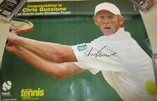 Chris Guccione (Australia) signed Wimbledon tennis poster + Coa & Photo proof