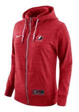 Women's 2019 Team Canada Gym Vintage Full Zip Red Hoodie Top WJC IIHF X-Small