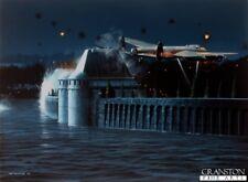 Ww2 Lancaster Bomber Dambusters Aviation ART POST CARD solo 100 prodotte