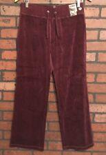 New York & Company Maroon Velour Boot Cut Sweat Pant Women's Size Small Short