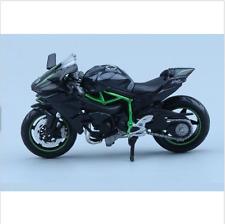 Diecast 1:18 Scale Kawasaki H2R Motorcylce Moto Autobike&Base Model Car Toy