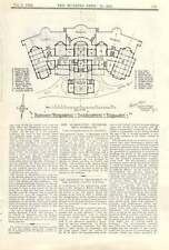 1909 Proposed New Hydropathic Establishment In Harrogate, Layout, Plan