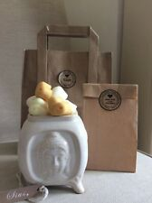 Divine ceramic buddhas oil burner With 8 fragrances of Heaven scents Wax Melts.