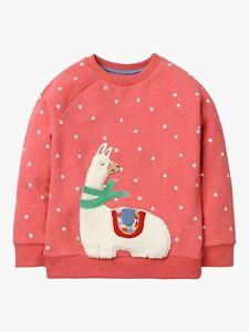 Ex Mini Boden Fluffy Friends Llama Applique Sweatshirt 2-12Yrs