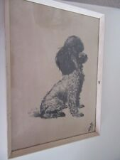 """VINTAGE  DOG  PICTURE BY DAVID KWOK  KUO -TA -WEI  14X10"""""""