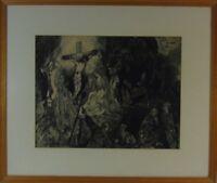 """Rudolf Rothe: """"Kreuzigung"""" Radierung auf Papier"""