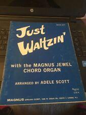 Vtg Magnus organ Corp Songbook: Just Waltzin , Book 207,1962