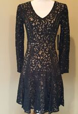 Cynthia Steffe Claire Long Sleeve Lace Dress  Women's Size 0