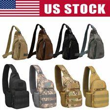 Tactical Chest Bag Backpack Men's Molle Crossbody Sling Messenger Shoulder Pack