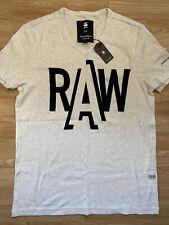 G Star New Mens Slim Fit Off White XXL T Shirt RRP £25