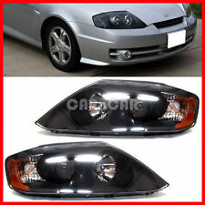 OEM GENUINE PART HEAD LIGHT LAMP SET BLACK VERSION 2003-2004 TIBURON / COUPE.