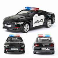 1:36 2015 Ford Mustang GT Police Car Model Diecast Toy Vehicle Pull Back Gift