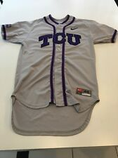Game Worn Used Nike TCU Horned Frogs Baseball Jersey #12 Size 44
