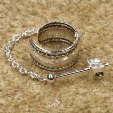 Keltisches Muster Ohrklemme Kette 925er Silber Symbol Schmuck - Neu