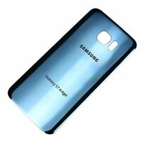 Samsung Galaxy S7 Edge T-Mobile G935T Battery Back Door Glass Cover Coral Blue