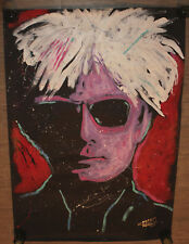 Rock Demarco Original Painting Famous Speed Painter Andy Warhol