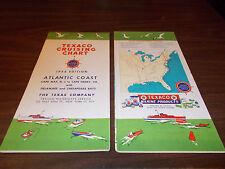 1956 Texaco Cruising Chart Atlantic Coast Cape May to Cape Henry Vintage Map