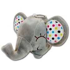 "3"" Gray Elephant Baby Polka Dot Ear Stuffed Animal Soft Plush Keychain New Cute"