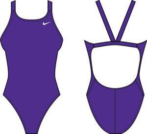 Nike NESSA001 536 Purple Racerback Costume da Bagno Intero Donna