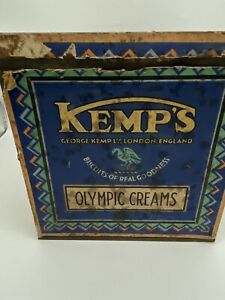Vintage Kemps Large Biscuit Tin - Olympic Creams