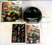 Monster Jam: Path of Destruction Nintendo Wii Big Box Wheel Stickers Sealed Lot