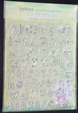 Habico ~ Clear Unmounted Rubber Stamp Set ~ 66 stamps ~ Children's Alphabet