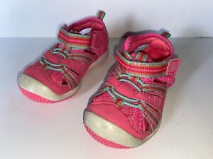 Stride Rite Baby Petra Pink Multi Toddler Girls Size 4 Wide Tennis Shoes Strap