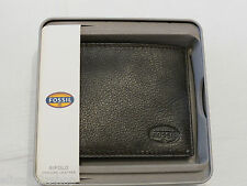 ML3340200 Clark bifold brown Men's wallet Fossil credit card ID RARE billfold