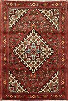 Geometric Hamedan Traditional Area Rug Hand-Knotted Wool Oriental 3x5 Carpet
