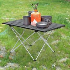 Folding Outdoor Portable Aluminum Table Lightweight Camping Picnic Fishing +Bag