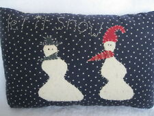 Primitive Snowman Christmas Pillow