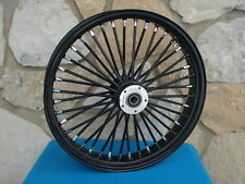 "21X3.5"" DNA FAT SPOKE BLACK OUT MAMMOTH SPOKE FRONT WHEEL HARLEY TOURING 2008-UP"