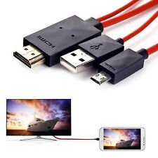 Micro USB to HDMI MHL TV OUT CABLE ADAPTER For Samsung Galaxy S3 i9300, S4 i9...