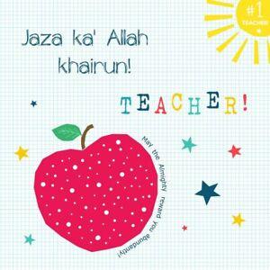 Islamic thank you card - To my teacher ... Jazak'Allah Khairun