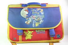 Vintage Pokemon Nintendo Backpack School Bag Briefcase 2000 Hasbro