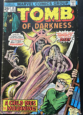 """Tomb of Darkness #19 MARVEL COMICS """"A Child Dies in the Morning"""""""