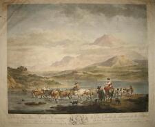 1795-RARO PAESAGGIO COLORATO-BERGHEM-CARDON-PAYS-BAS-LANDSCAPE-HANDCOLORED-RARE