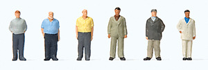 Z scale Preiser SIX STANDING MEN Figures 88561