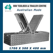 Aluminium Toolbox DBL 1700 x 500 x 400 mm Storage for Trailer Ute Truck Tray