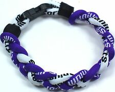 "New! 8"" Tornado Titanium Power Dual Sport Balance Bracelet Purple White"