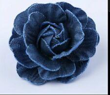 5Pcs/Lot Denim Flower Artificial Flower Wedding Decoration Diy