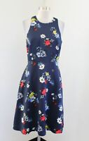 NWT Banana Republic Patrizia Blue Floral Fit and Flare Racerback Dress Size 4